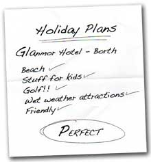 holiday check list
